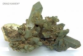 Himalaya kwarts cluster met chloriet, 391 gram. Uniek exemplaar.*