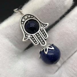 Handmade hanger 'Omhullende Bescherming' Lapis Lazuli