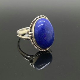 Lapis Lazuli ring, 17 mm/53, 925 zilver