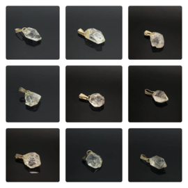Herkimer diamant hanger met koolstof insluitsel.