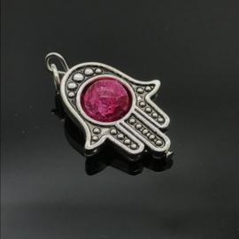 Beschermende Hamsa/Fatima's hand hanger 'Heartbeat'