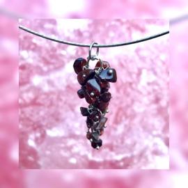 Speelse hanger met Rode Tijgeroog steentjes