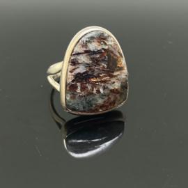 Astrofylliet ring, 16,5 mm/52, 925 zilver