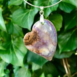 Flower Jade hart hanger
