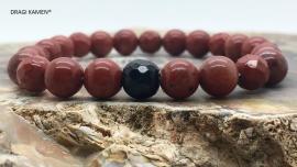 DRAGI KAMEN® - Armband met Rode Jaspis 8 mm facet geslepen kralen.