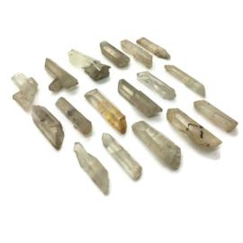 set van 17 Tibetaans bergkristal healingpunten