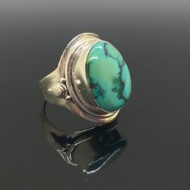 Turkoois ring, 17 mm/54, 925 zilver