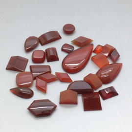Carneool cabochons, 62 ct. Top kwaliteit.