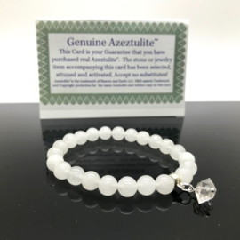 Azeztuliet armband met Herkimer Diamant