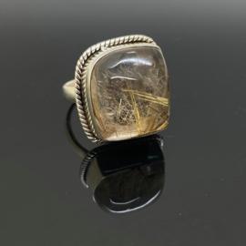 Rutielkwarts ring 17 mm/53, 925 zilver