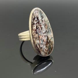 Astrofylliet ring, 18,75 mm/59, 925 zilver