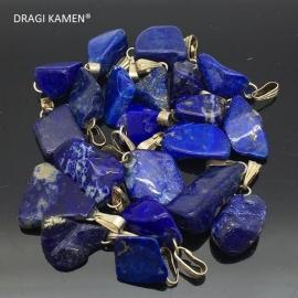 AAA Blue Lapis lazuli gezondheidshanger met zilveren hangoog uit Afghanistan.