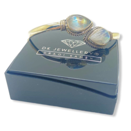 925 zilveren armband met geslepen Maansteen