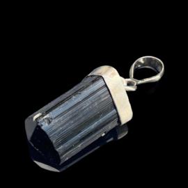 Toermalijn kristal (natuurlijke punt) in zilver