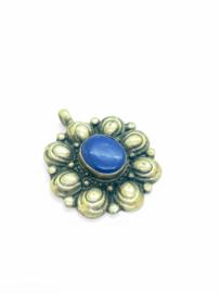 Tibet zilveren hanger met lapis lazuli