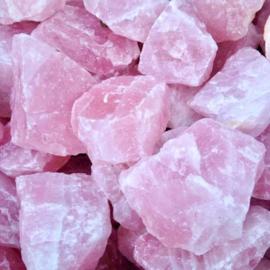 Roze kwarts/Rozenkwarts ruw 150-250 gr.