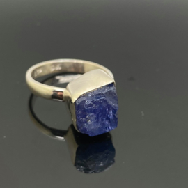 Tanzaniet ring 18,5 mm/59, 925 zilver