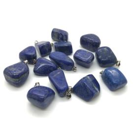 Lapis Lazuli hanger met 925 zilveren hangoogje