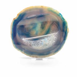 Agaat (gekleurd) schijf/kom 140 mm