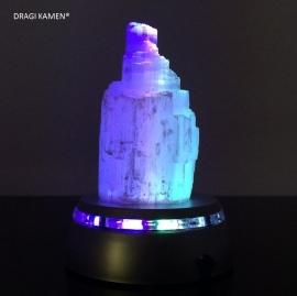DRAGI KAMEN® - Seleniet berg ca. 10 cm met kleur wisselende LED onderzetter op batterijen (excl. batterijen).