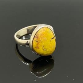 Bumblebee Jaspis ring, 18,75 mm/59, 925 zilver