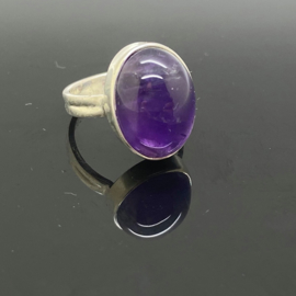 Amethist ring, 17 mm/54, 925 zilver
