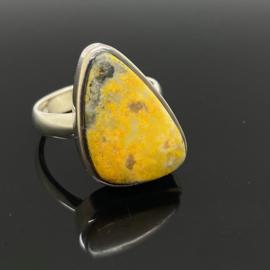 Bumblebee Jaspis ring, 17,75 mm/55,  925 zilver