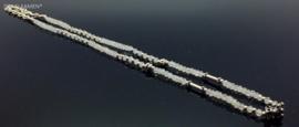925/000 zilveren collier met facet geslepen regenboog maansteen