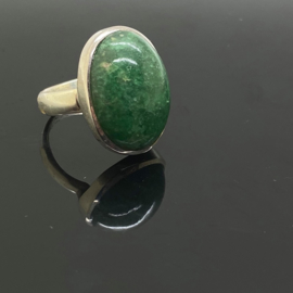 Aventurijn ring, 16,5mm/52, 925 zilver