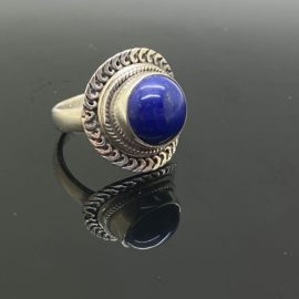Lapis Lazuli ring, 16,5 mm/52, 925 zilver