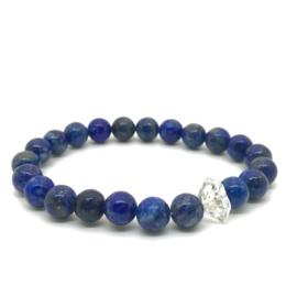 Lapis Lazuli met Herkimer diamant armband, custom made