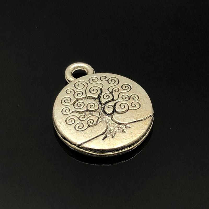 Tree of Life/ Levensboom Bedel,  metaal zilver kleur.