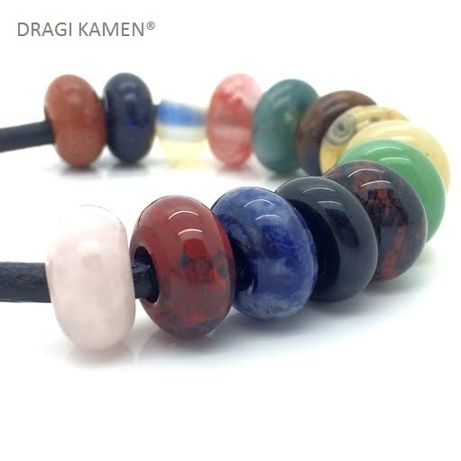 DRAGI KAMEN® - Pandora-stijl donut in diverse edelsteen soorten.