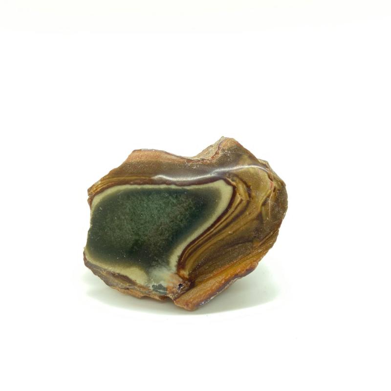 Polychroom jaspis 1 zijde gepolijst