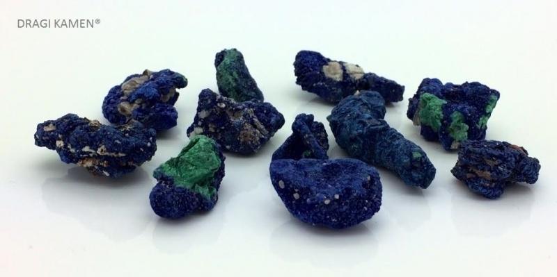 Azuriet met Malachiet kristallen
