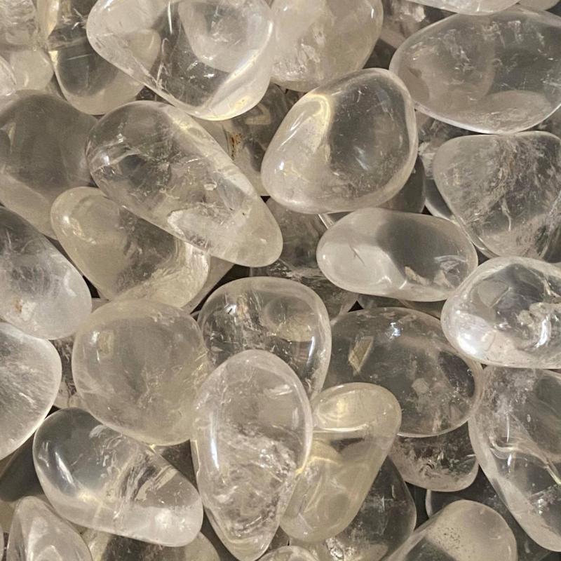 Bergkristal meditatie/knuffelsteen S, 15-20 mm