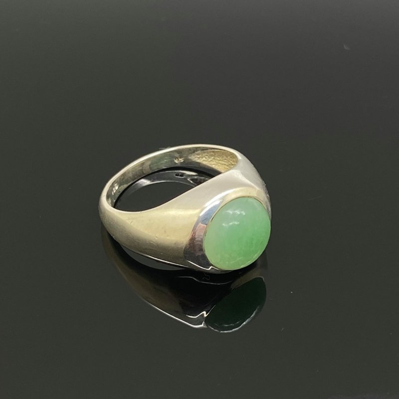 Aventurijn ring, 15,75mm/49, 925 zilver