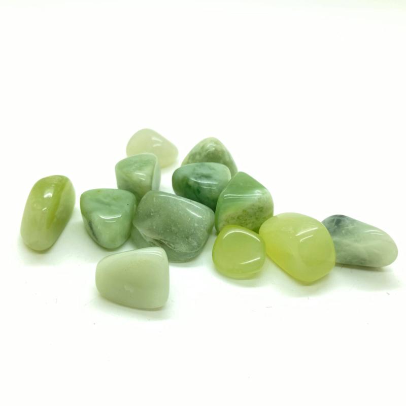 Jade hand-, knuffel-, meditatie steen