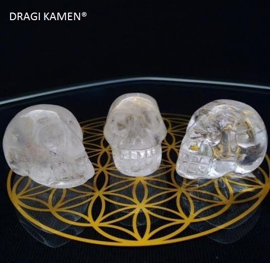 Crystal skull Bergkristal, 30 mm.