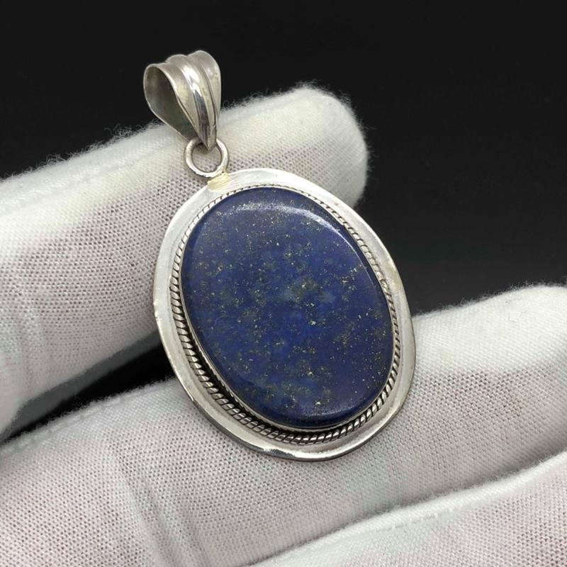 Lapis Lazuli hanger, 925 zilver