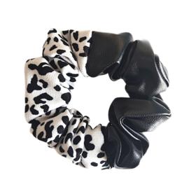 Scrunchie Leather Look Wild |Black