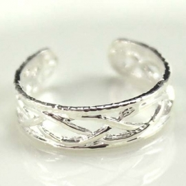 Teen ring Zilver