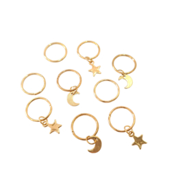Hair ring To the moon