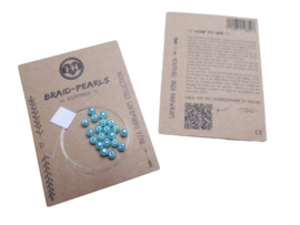 Braid Pearls| Turquoise