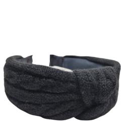 Haarband Knitted | Zwart