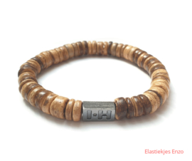 I*H Bracelet| Coconut Beads Natural  'Hawai'