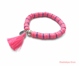 Armbandje Color Kids♡ Pink Zebra