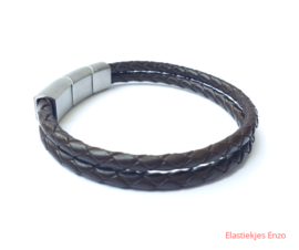 I*H Leather Bracelet Paris| Dark Brown