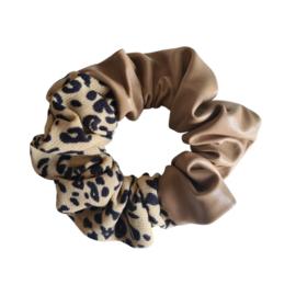Scrunchie Leather Look Wild |Camel