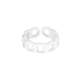 Candy Ring Schakel| Wit